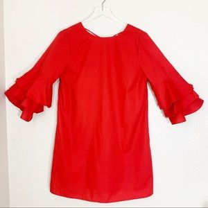 BLEUH CIEL Ruffle Sleeve Dress, Size Large